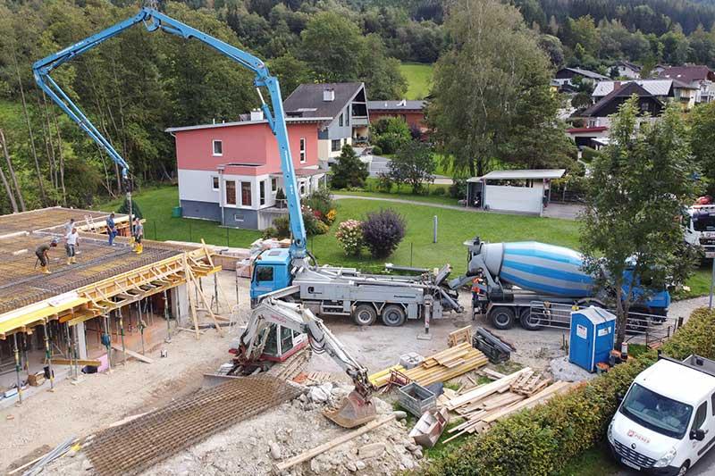 Eine Baustelle, an die Schaberreiter Transportbeton liefert. Foto: Meieregger