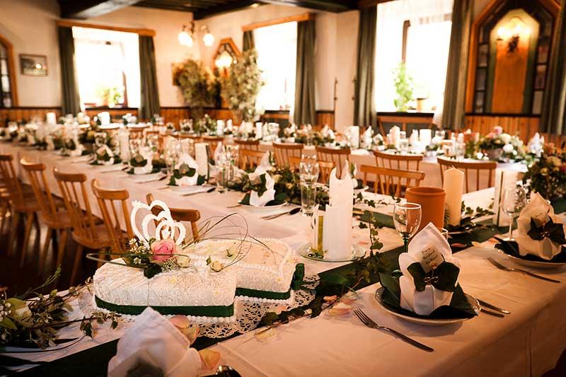 Auch für Hochzeiten ist genügend Platz. Foto: Maierhofer